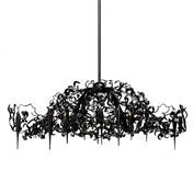 Brand van Egmond - Flower Power Chandelier oval - black/steel/Size 2/155cm