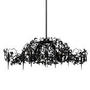 Brand van Egmond - Flower Power Kronleuchter oval - schwarz/Stahl/Größe 2/155cm