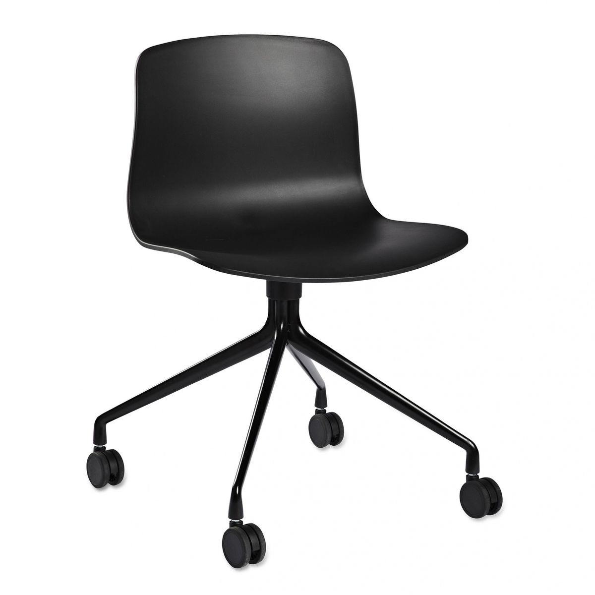 office chair with wheels. hay - about a chair 14 office with wheels black/frame powder coated i