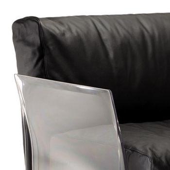 Kartell: Hersteller - Kartell - Pop Leder Dreisitzer