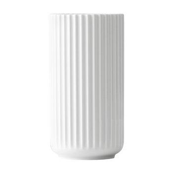 Lyngby Porcelæn - Lyngby Porzellan Vase H15cm - weiß/handgemachtes Porzellan/Ø8cm