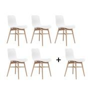 NORR 11 - Chaise langue original hêtre naturel Set promo '5+1'