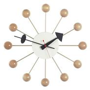 Vitra - Ball Clock Nelson Wanduhr - buche/Holz/Ø33cm