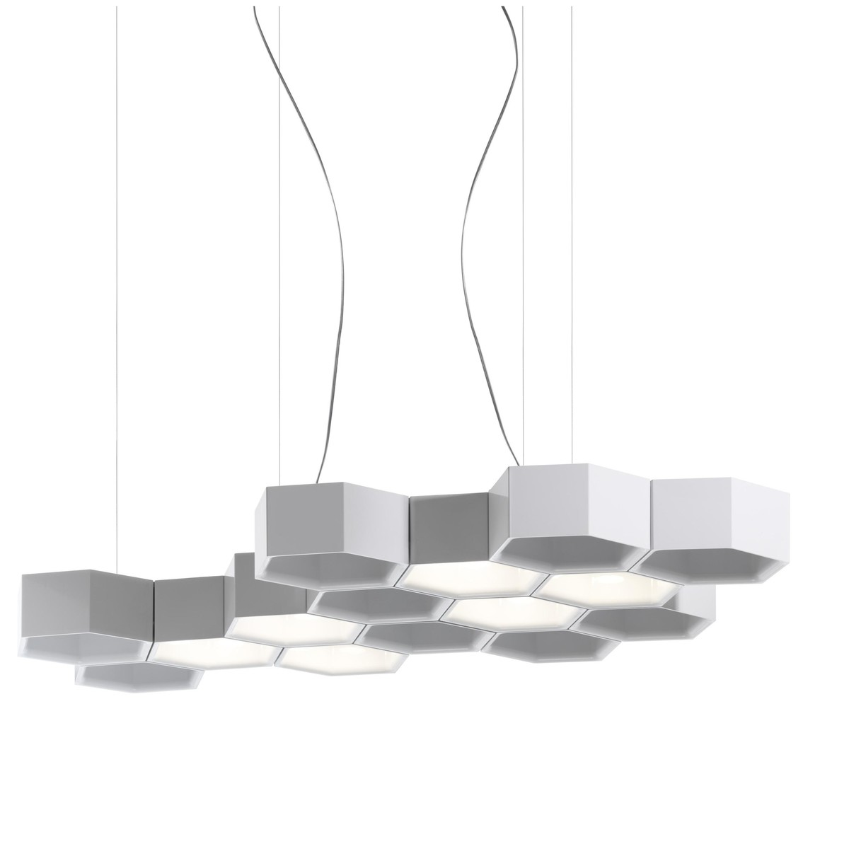 Honeycomb led suspension lamp luceplan for Suspension led design