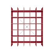 Moormann - FNP Regal System FU Multiplex Birke - rot/Materialstärke FU: 16mm/175x223cm
