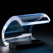 Oluce - Colombo Tischlampe - schwarz/transparent