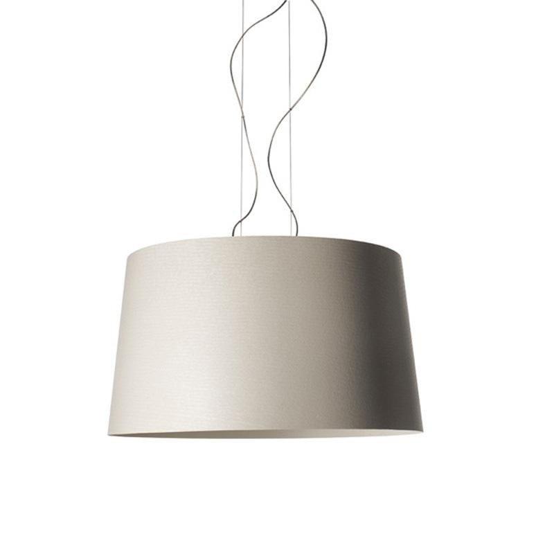 Foscarini twice as twiggy led suspension lamp beige fibreglass dimmable 3000k