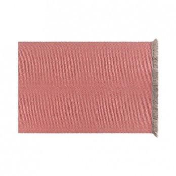 GAN - Garden Layers Diagonal Teppich 180x240cm - mandel-rot/Handwebstuhl