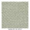 MDF Italia - Flow Slim Armlehnstuhl gepolstert New Edition 2 - grün/weiß/Schale weiß/Gestell Eiche/Stoff Monaco R317 Col. 443.011/B56 x T56 x H76.4 cm