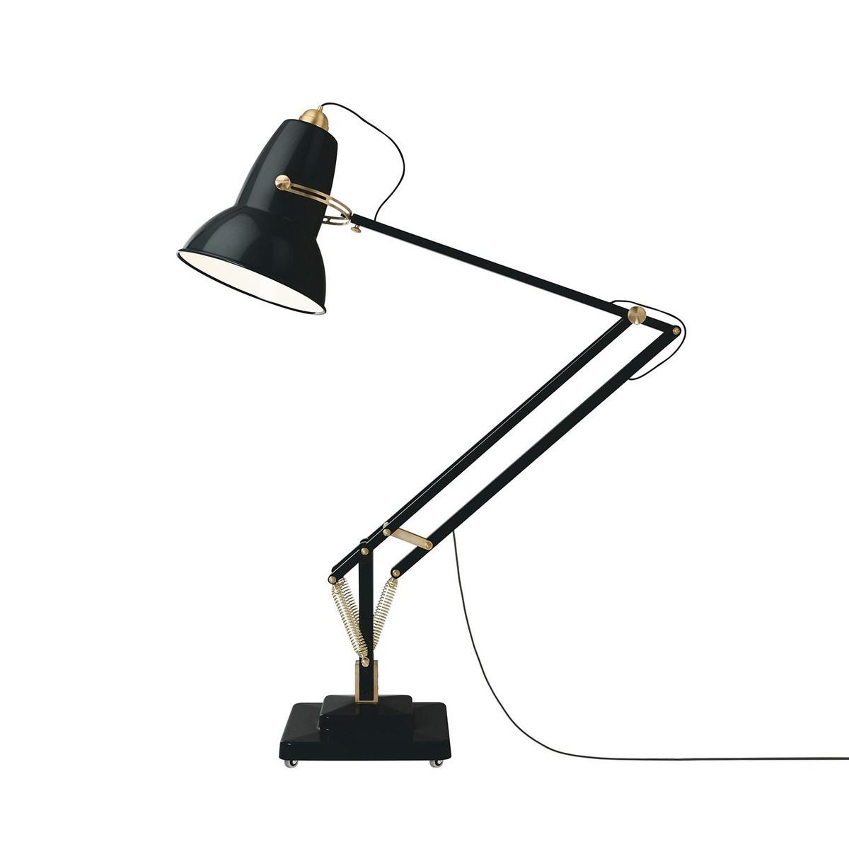 original 1227 giant brass led floor lamp anglepoise. Black Bedroom Furniture Sets. Home Design Ideas
