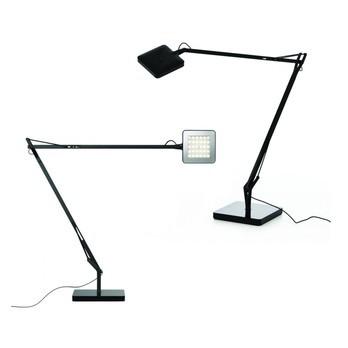 Flos - Kelvin LED 2er-Set Schreibtischleuchten - anthrazit/matt/LxBxH 58x10x47cm
