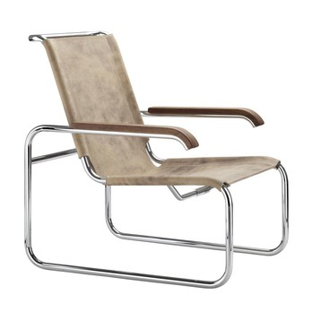 Thonet - S 35 L Pure Materials Sessel Büffelleder
