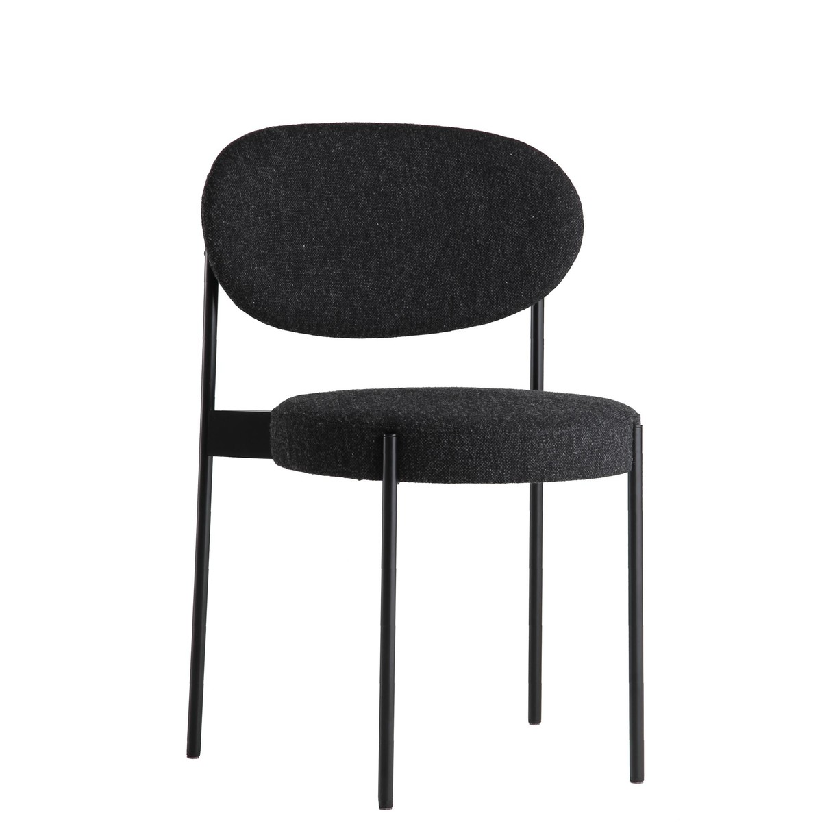 VerPan   Series 430 Chair   Dark Grey/fabric Hallingdal 65 180/frame Black