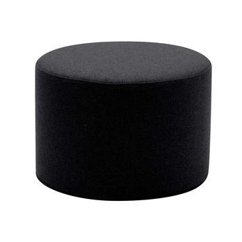 Softline - Drum Hocker / Beistelltisch S - schwarz/Stoff Felt 636/H 30cm / Ø 45cm
