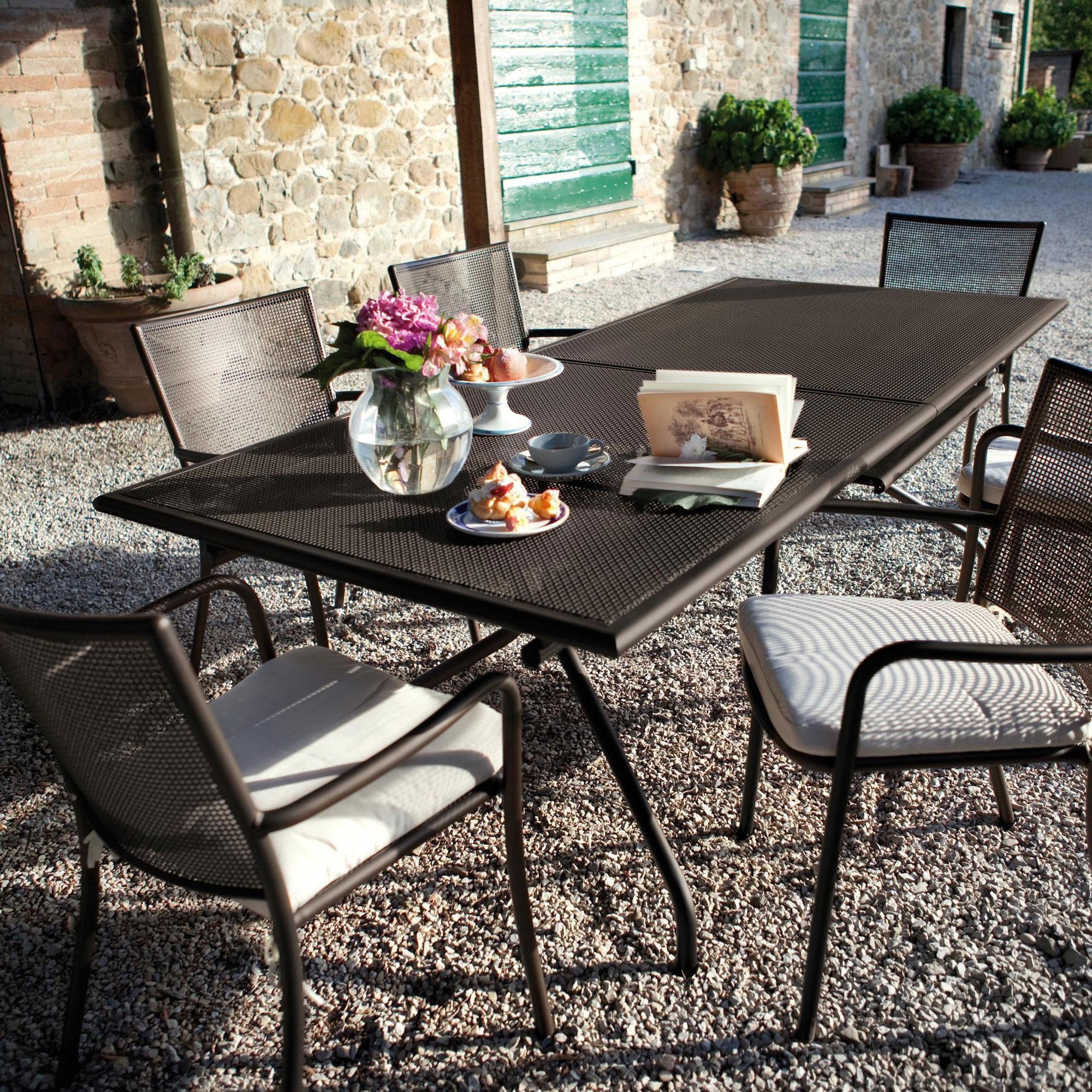 Table de jardin extensible Athena 160x90cm