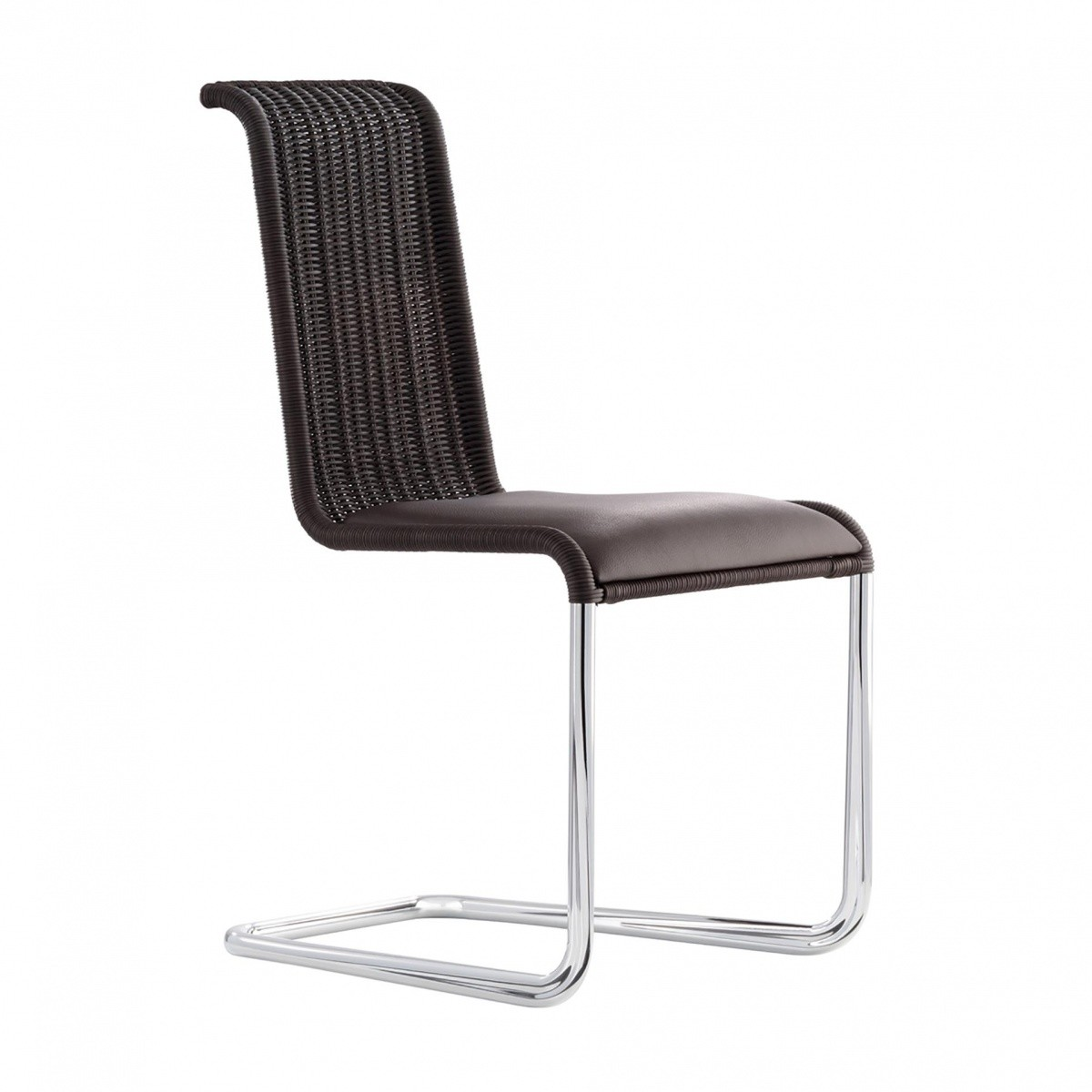 b20i cantilever chair with upholstered seat tecta. Black Bedroom Furniture Sets. Home Design Ideas