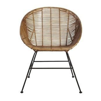 - House Doctor Lounge Stuhl - natur/Gestell schwarz