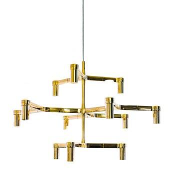 Nemo - Crown Minor Kronleuchter - vergoldet/glänzend/BxHxT 77x50x67cm/12 Lampen