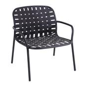 emu - Yard Garten-Loungesessel - schwarz/Gestell schwarz/LxBxH 73x71.5x77cm