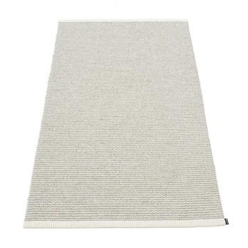 pappelina - Mono Teppich 85x160cm - fossilgrau - warmes grau/gewebt/Kante umgenäht/für Innen- und Außenbereich geeignet