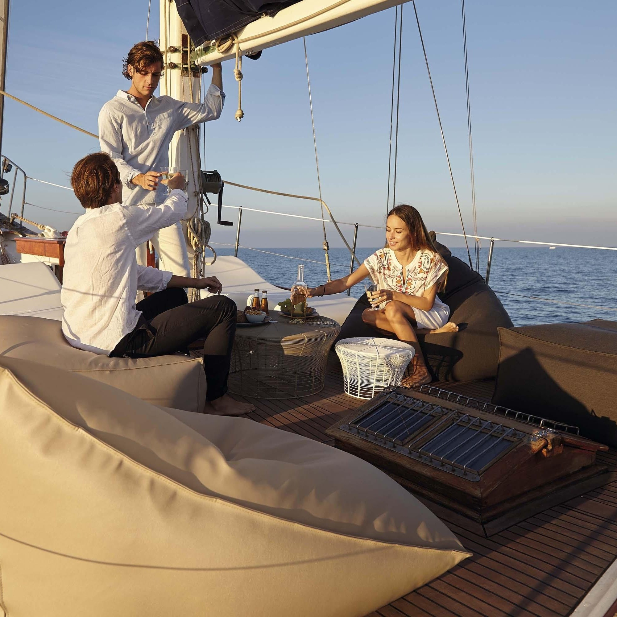 Awe Inspiring Sail Outdoor Pouf Bean Bag Gmtry Best Dining Table And Chair Ideas Images Gmtryco