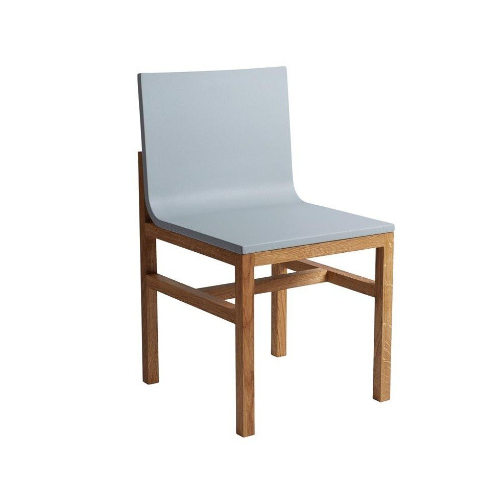 ... HAY   Slope Chair   Grey/molded Polyurethane Foam/frame Oiled Oak ...
