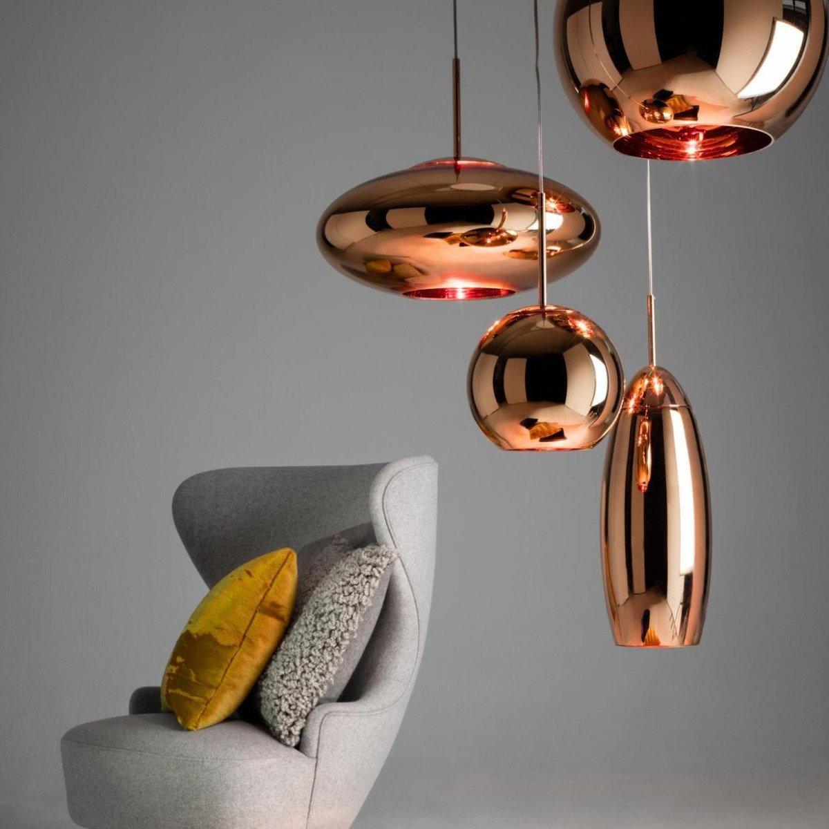 copper round suspension lamp tom dixon. Black Bedroom Furniture Sets. Home Design Ideas