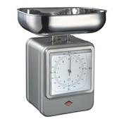 Wesco - Wesco Retro Waage mit Uhr - silber