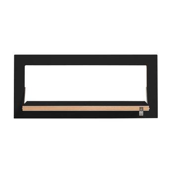 AMBIVALENZ - Fläpps Regal 60x27-1 - schwarz/Kante Holz/lackiert/Wandhalterung 1cm/Arbeitsfläche 50x17cm/BxHxT 60x27x2cm