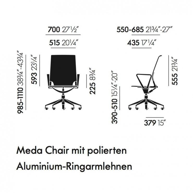 vitra meda chair b rostuhl vitra. Black Bedroom Furniture Sets. Home Design Ideas