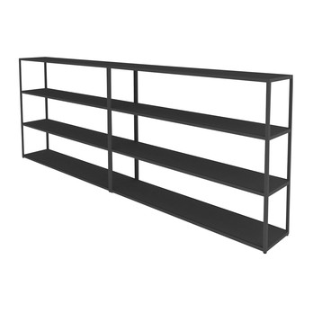 HAY - New Order Sideboard 300x110cm - charcoal dunkelgrau/lackiert