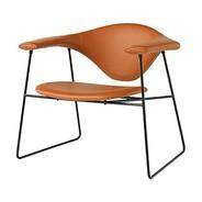 Gubi - Fauteuil Masculo Lounge Chair cuir