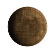 Rosenthal - Rosenthal Mesh Speiseteller Ø21cm - braun walnut/glänzend/mikrowellengeeignet