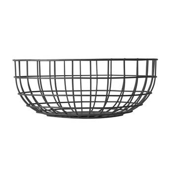 Menu - Norm Wire Bowl Drahtkorb - schwarz/pulverbeschichtet/H 10cm, Ø 25cm
