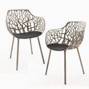 Weishäupl - Forest - Kit de 2 sillónes - taupe/revestido en polvos/incl. 2 cushions anthrazite
