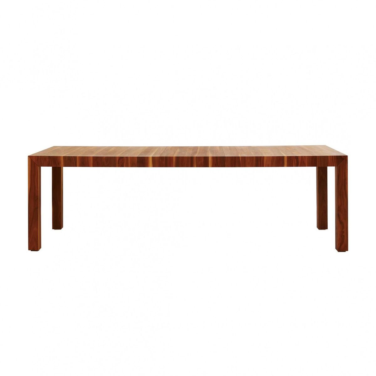 Volta solid wood dining table extendable more for Solid wood dining table