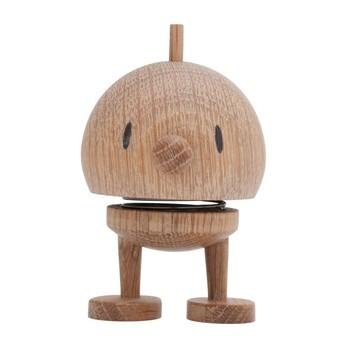 Hoptimist - Hoptimist Baby Woody Bumble Push Puppet - oak/H7.0cm/Ø5.0cm/with spring mechanism