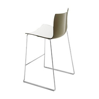 Incredible Catifa 46 0474 Bar Stool Low Bicolour Chrome Caraccident5 Cool Chair Designs And Ideas Caraccident5Info