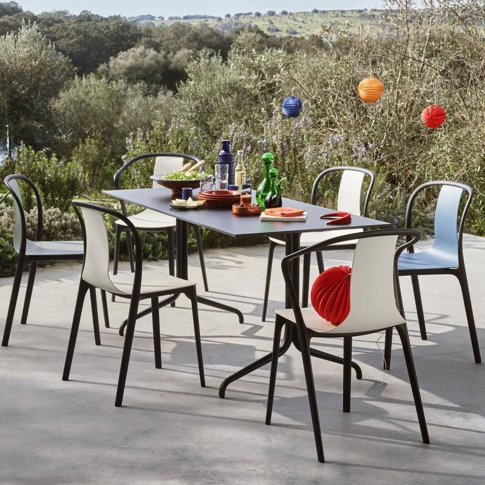 outdoor arm chair. Vitra - Belleville Armchair Plastic Outdoor Arm Chair