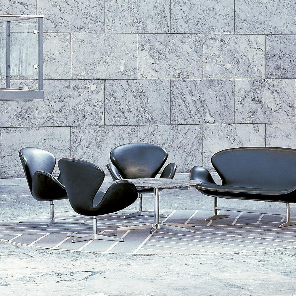 Swan chair sessel leder fritz hansen for Designklassiker sessel leder