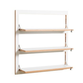 AMBIVALENZ - Fläpps Regal 80x80 - weiß/Kante Holz/lackiert/B x H x T: 80 x 80 x 20cm