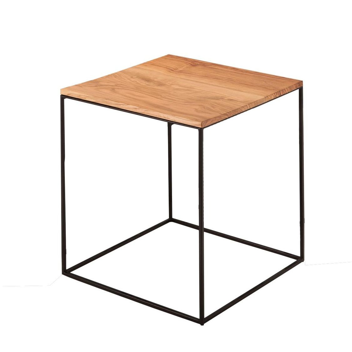 zeus slim irony side table 31x31cm ambientedirect. Black Bedroom Furniture Sets. Home Design Ideas