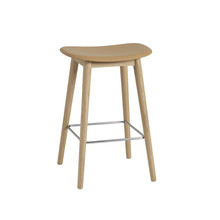 Muuto - Fiber Bar Stool Wood Base 65cm