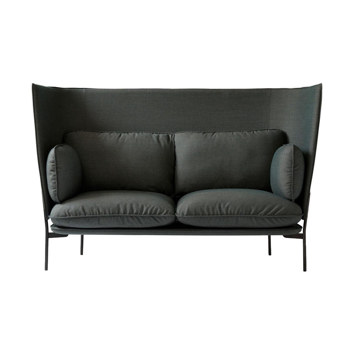 Nice Cloud High Back LN6 Sofa With High Back   Green/fabric Kvadrat Fiord 971