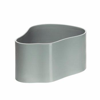 Artek - Artek Riihitie Pflanztopf Form A - hellgrau/glänzend/LxBxH 40x27x20cm