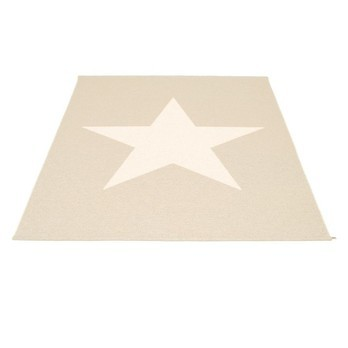 pappelina - Viggo Star Teppich 180x230cm - champagne metallic/vanille