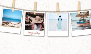 Postkarten an Schnur