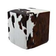 Jan Kurtz - Pouf en peau de vache Cheyenne