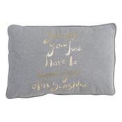 Bloomingville - Sunshine Kissen - grau/gold/Jersey/B60xH40cm