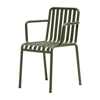 HAY - Palissade Armlehnstuhl - olivengrün/pulverbeschichtet/51x80x56cm